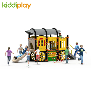 PE Board Newly Designed Car Kids Play Set with Stainless Steel Slide