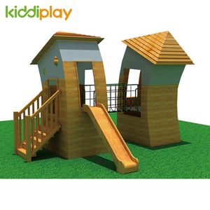 Children Happy Wooden House Series Outdoor Playground for Sale