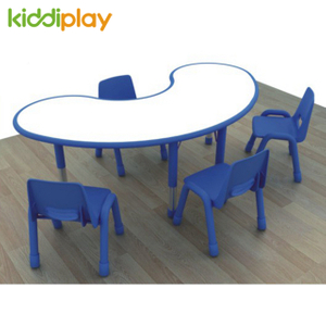 EU Standard Moon Children Indoor Table And Chairs