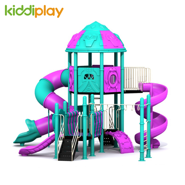 Colorful Outside Transformers Series Plastic Slides Outdoor Playground for Kids