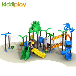 Outdoor Playground Equipment with Dinosaur Series Slide For Kids