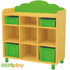 Kids Furniture 9 Compartments Wooden Multi Storage Cabinet