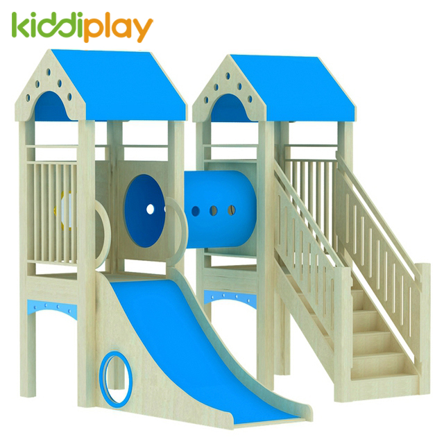 China Factory Made Wood Material Kids Indoor Wooden Play Ground