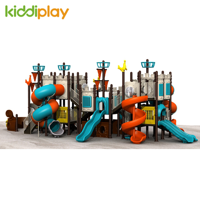 Factory Manufacturer Plastic Slide Children Outdoor Playground of Pirate Ship Series