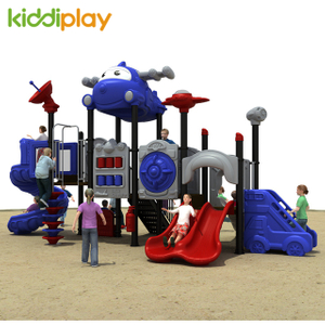 Kids Airport Series Game Plastic Slide Outdoor Playground Set