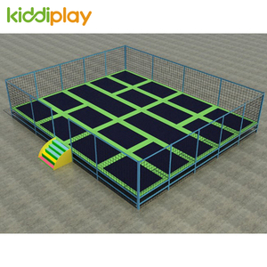 Good Quality Indoor Rectangular Trampolines Park With Nets Play Equipment