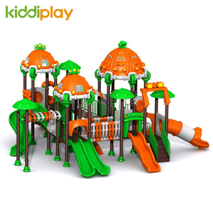 Children Preschool Plastic Slide Outdoor Playground Equipment Car Series