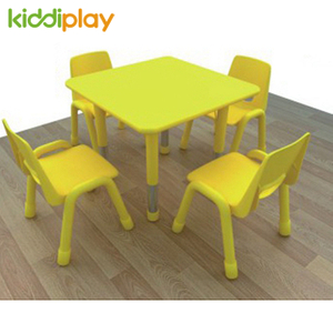 Color MDF Top Children Table Chair for Kindergarten