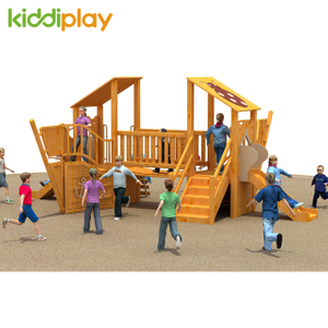Pirate Ship Small Wooden Series Outdoor Playground for Sale