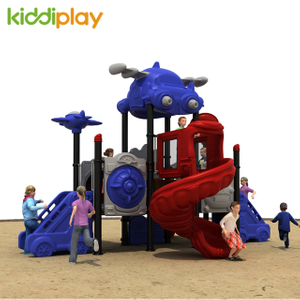 Children Outdoor Playground Amusement Equipment Big Slides Airport Series for Sale