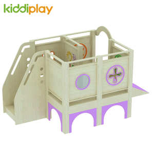 Wood Play House with Soft Play Toys Equipment for Kids