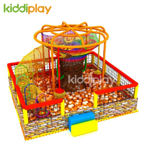 Children Rainbow Crocheted Indoor Playground Equipment With Ball Pool