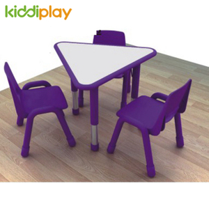Children Table Chairs with Adjustable Height Metal Table