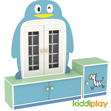 Kindergarten Furniture Children Penguin Type Teacup Cabinet