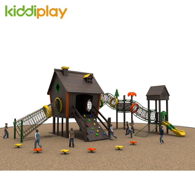 Wooden House Series Climbing Outdoor Playground for Children