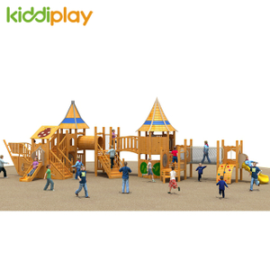 Sea Boat Outdoor Kids Wooden Series Playground Equipment