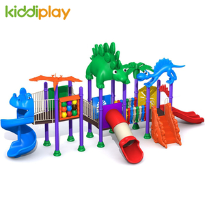 Children Plastic Slide Outdoor Playground Ancient Dinosaur Series