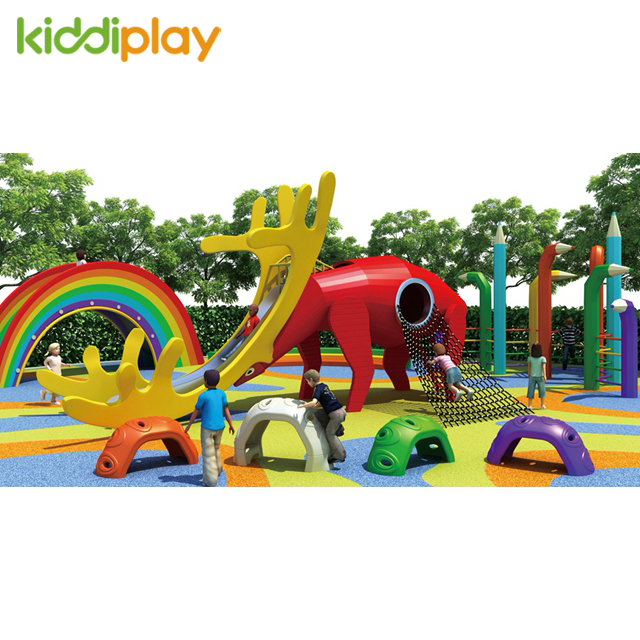 Best Quality Wooden Slide Outdoor Playground for Children Game