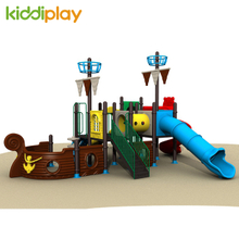 Wholesale New Kids Playground Equipment Outdoor Slide Toy Pirate Ship Series