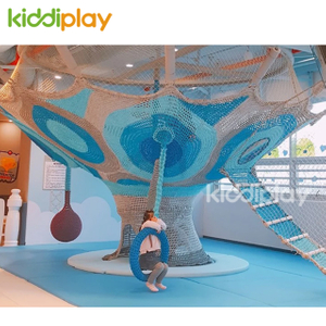 Kids Indoor Colorful Nylon Rope Hand Crocheted Playground Equipment