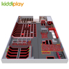 Trampoline with Large Foam Blocks,delicate Color Large Foam Pit Indoor Trampoline From China