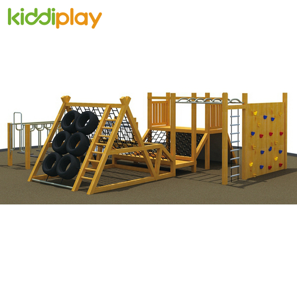 Slide & Tube Fashionable Exciting Stable Playground Outdoor Wood Series
