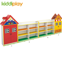 Kindergarten Furniture Melamine Particle Board Cartoon Design Storage Cabinets