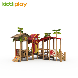 New Design Jurassic Series Multi- Function Children Outdoor Wooden Playground Equipment