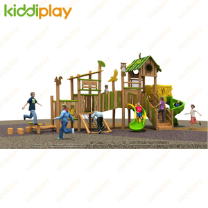 New Design Wooden Playground Slide Outdoor Playground Equipment for Children