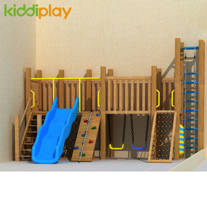 Customized Indoor Kids Wooden Equipment Structure Playground