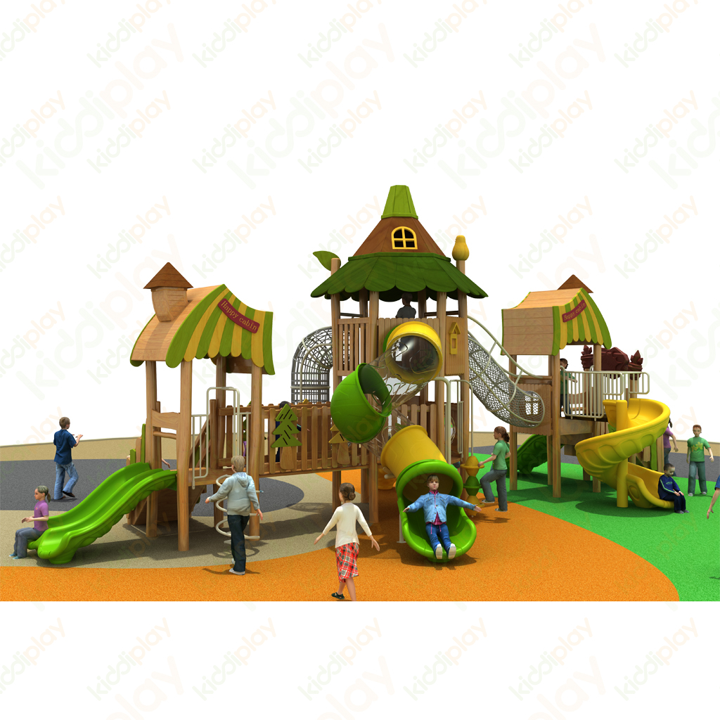 Newest And Attractive Outdoor Wooden Playground Climbing Slide for Children Play