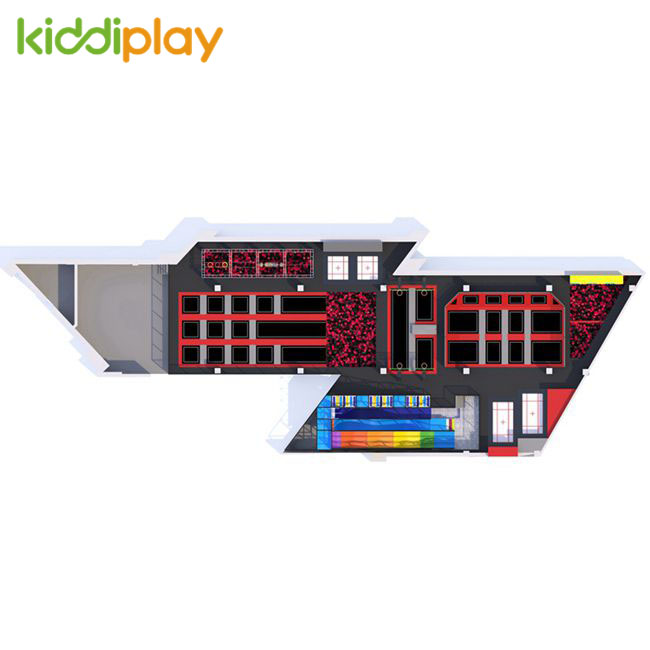 KD11076C 2019 Most Popular Trampoline Park Center in America