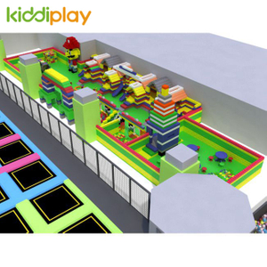 KD11059A large Trampoline Park With building blocks center maze trampoline