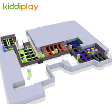 KD11034A Amazing Design Trampoline Park with Maze And Basketball Area Foam Pit Building Blocks.