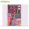 KD11051A New Arrival And Large Indoor Trampoline Park with Spider Tower Zip Line Parkour Beam Battle Block Building