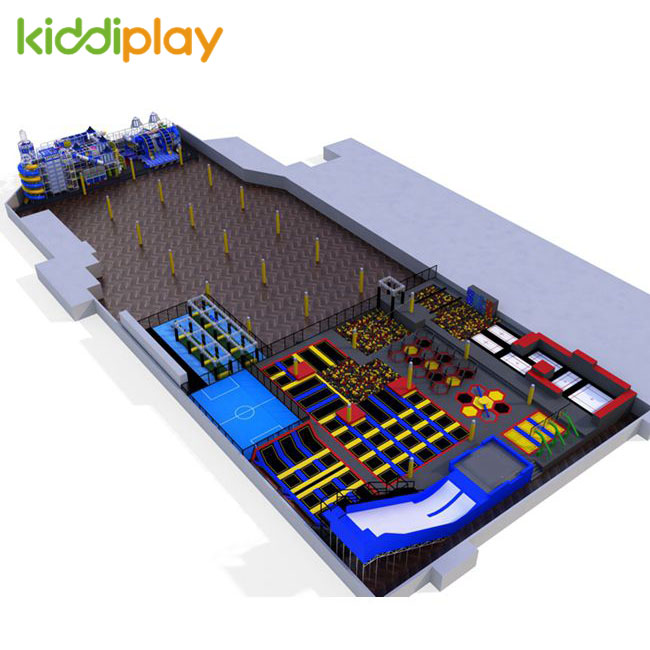 KD11054B Parkour Trampoline Center Ninja Course New Design Jumping Park Center