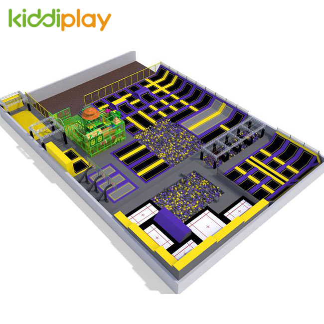 KD11084B Collision between Dinosaur Age And Modern Times Trends Design Kids Playground Trampoline Park Center