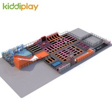 KD11063A Hot Sale Multi-function Free Jump Indoor Playground Trampoline Park Center with Foam Pit Spider Tower