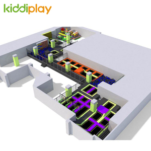 KD11060A Used Indoor Playground Kids And Adult Free Jump Trampoline Park Center with Building Blocks Center