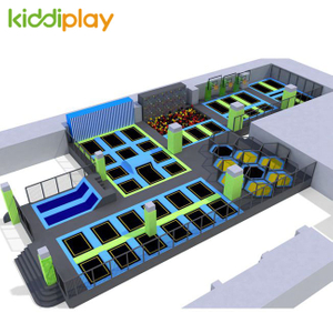 KD11034B Indoor Trampoline Maze Area Foam Pit Basketball Area Free Jumping Park Center