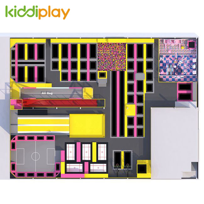 KD11082A Newest Design And Hot Popular Trampoline Park Center