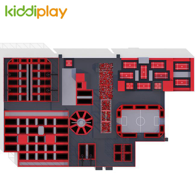 KD11027B New Developed Indoor Trampoline New Safety Trampoline Jumping Park for Children Parkour Trampoline