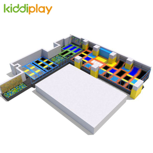 KD11037A Indoor Climbing Wall Foam Pit Basketball Area Free Jumping Trampoline Park Center