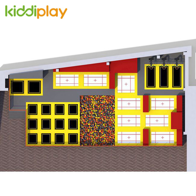 KD11079C High Quality Free And Professional Trampoline Park Center