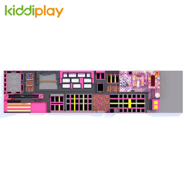KD11064D The Most Popular Large And Comprehensive Trampoline Park Suitable for Rectangular Sites