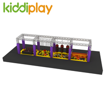 Commercial Kids Obstacle Course Equipment Trampoline Park Playground Ninji Warrior Course