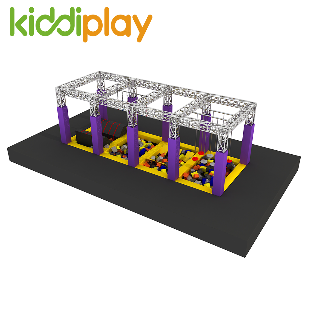 Professional Indoor Rope Course Kids Games Play Mini Playground Equipment Ninja Warrior Track
