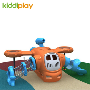 Children Game Outdoor Plastic Airport Slide And Swing