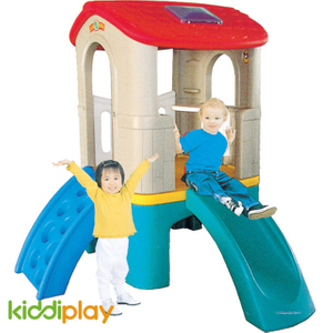 Garden Small Children Plastic Play Toy Slide And Swing