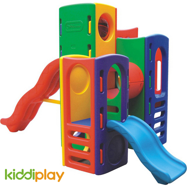 Kindergarten Plastic Slide And Swing Playground Equipment Set for Play Toy